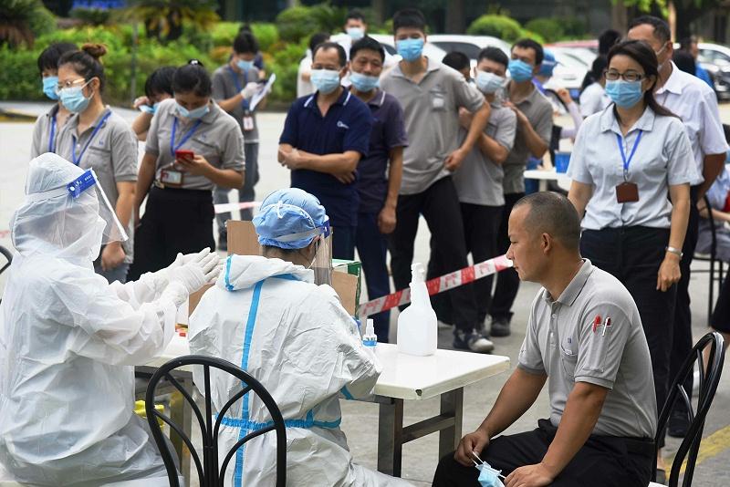 广州美亚配合广州市黄埔区开展第二次核酸检测