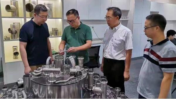 中科院上海研究所专家赵全忠教授莅临美亚参观指导!