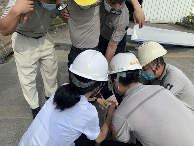 广州美亚开展2020年台风、洪涝、地震防治综合应急疏散演练