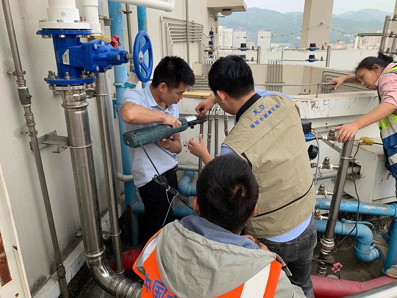 美亚不锈钢供水管安装现场